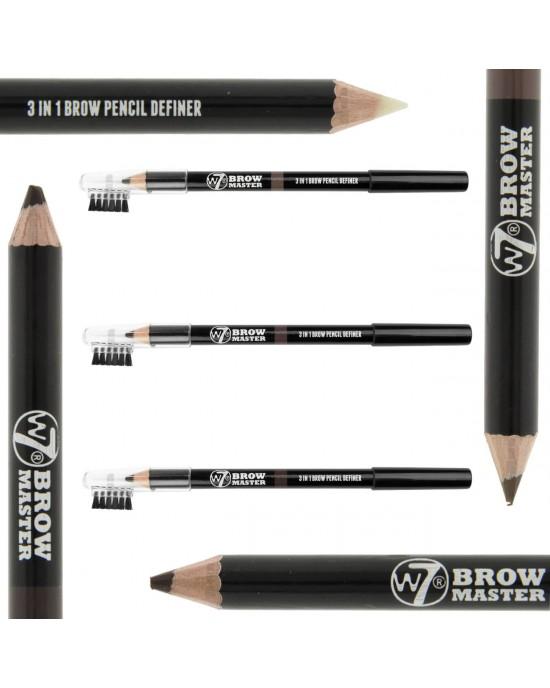 W7 Brow Master 3 in 1 Brow Pencil Definer