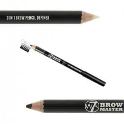 W7 Brow Master 3 in 1 Brow Pencil Definer ~ Brown
