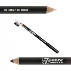W7 Brow Master 3 in 1 Brow Pencil Definer ~ Dark Brown