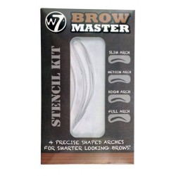 W7 Brow Master Stencil Kit Four Precise Shaped Arch Stencils